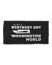 JUST A KENTUCKY GUY IN A WASHINGTON WORLD Cloth face mask thumbnail
