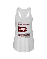 JUST A NORTH CAROLINA GIRL IN A PENNSYLVANIA WORLD Ladies Flowy Tank thumbnail