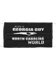 JUST A GEORGIA GUY IN A NORTH CAROLINA WORLD Cloth face mask thumbnail