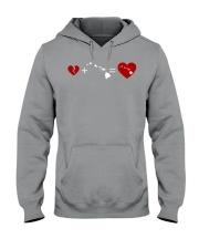 HEART AND MAP HAWAII Hooded Sweatshirt thumbnail