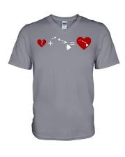 HEART AND MAP HAWAII V-Neck T-Shirt thumbnail