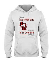 JUST A NEW YORK GIRL IN A WISCONSIN WORLD Hooded Sweatshirt front