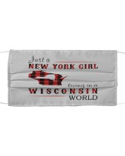 JUST A NEW YORK GIRL IN A WISCONSIN WORLD Cloth face mask thumbnail