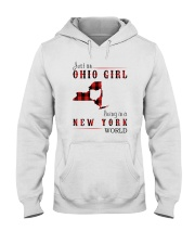 JUST AN OHIO GIRL IN A NEW YORK WORLD Hooded Sweatshirt front