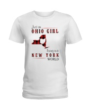 JUST AN OHIO GIRL IN A NEW YORK WORLD Ladies T-Shirt thumbnail