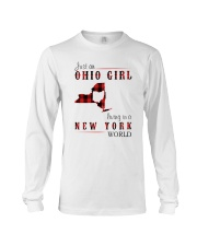 JUST AN OHIO GIRL IN A NEW YORK WORLD Long Sleeve Tee thumbnail
