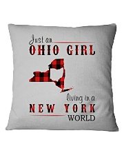 JUST AN OHIO GIRL IN A NEW YORK WORLD Square Pillowcase thumbnail