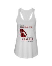 JUST A FLORIDA GIRL IN A GEORGIA WORLD Ladies Flowy Tank thumbnail