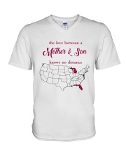 FLORIDA MICHIGAN THE LOVE MOTHER AND SON V-Neck T-Shirt thumbnail