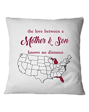 FLORIDA MICHIGAN THE LOVE MOTHER AND SON Square Pillowcase thumbnail