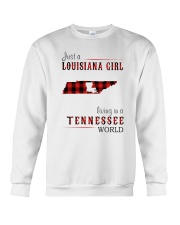 JUST A LOUISIANA GIRL IN A TENNESSEE WORLD Crewneck Sweatshirt thumbnail