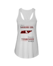 JUST A LOUISIANA GIRL IN A TENNESSEE WORLD Ladies Flowy Tank thumbnail