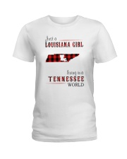 JUST A LOUISIANA GIRL IN A TENNESSEE WORLD Ladies T-Shirt thumbnail
