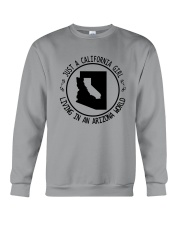 CALIFORNIA GIRL LIVING IN ARIZONA WORLD Crewneck Sweatshirt thumbnail