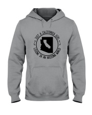CALIFORNIA GIRL LIVING IN ARIZONA WORLD Hooded Sweatshirt front