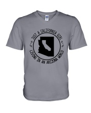CALIFORNIA GIRL LIVING IN ARIZONA WORLD V-Neck T-Shirt thumbnail