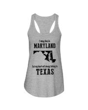 LIVE IN MARYLAND BUT BELONG TO TEXAS Ladies Flowy Tank thumbnail