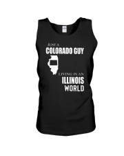 JUST A COLORADO GUY IN AN ILLINOIS WORLD Unisex Tank thumbnail