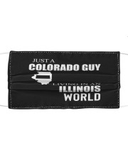 JUST A COLORADO GUY IN AN ILLINOIS WORLD Cloth face mask thumbnail