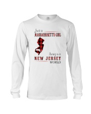 JUST A MASSACHUSETTS GIRL IN A NEW JERSEY WORLD Long Sleeve Tee thumbnail