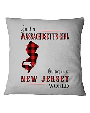 JUST A MASSACHUSETTS GIRL IN A NEW JERSEY WORLD Square Pillowcase thumbnail