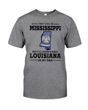 LIVE IN MISSISSIPPI BUT LOUISIANA IN MY DNA Classic T-Shirt thumbnail