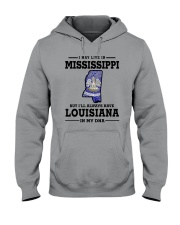 LIVE IN MISSISSIPPI BUT LOUISIANA IN MY DNA Hooded Sweatshirt thumbnail