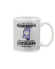 LIVE IN MISSISSIPPI BUT LOUISIANA IN MY DNA Mug thumbnail