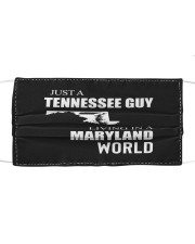 JUST A TENNESSEE GUY IN A MARYLAND WORLD Cloth face mask thumbnail