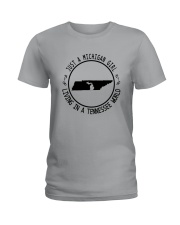 MICHIGAN GIRL LIVING IN TENNESSEE WORLD Ladies T-Shirt thumbnail