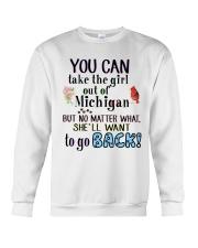 YOU CAN TAKE THE GIRL OUT OF MICHIGAN Crewneck Sweatshirt thumbnail