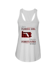 JUST A FLORIDA GIRL IN A PENNSYLVANIA WORLD Ladies Flowy Tank thumbnail