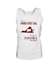 JUST A CONNECTICUT GIRL IN A VIRGINIA WORLD Unisex Tank thumbnail