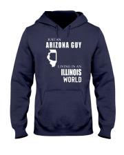 JUST AN ARIZONA GUY IN AN ILLINOIS WORLD Hooded Sweatshirt front