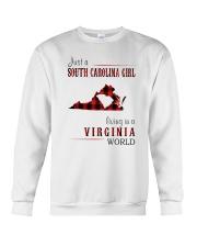 JUST A SOUTH CAROLINA GIRL IN A VIRGINIA WORLD Crewneck Sweatshirt thumbnail
