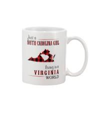 JUST A SOUTH CAROLINA GIRL IN A VIRGINIA WORLD Mug thumbnail