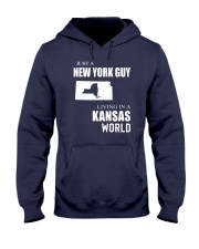 JUST A NEW YORK GUY IN A KANSAS WORLD Hooded Sweatshirt front
