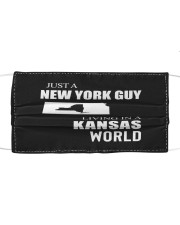 JUST A NEW YORK GUY IN A KANSAS WORLD Cloth face mask thumbnail