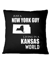 JUST A NEW YORK GUY IN A KANSAS WORLD Square Pillowcase thumbnail