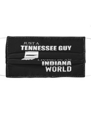 JUST A TENNESSEE GUY IN AN INDIANA WORLD Cloth face mask thumbnail