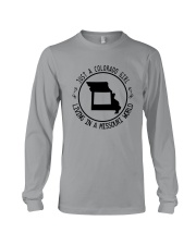 COLORADO GIRL LIVING IN MISSOURI WORLD Long Sleeve Tee thumbnail