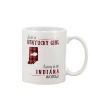 JUST A KENTUCKY GIRL IN AN INDIANA WORLD Mug thumbnail