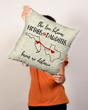 """FLORIDA TEXAS THE LOVE MOTHER AND DAUGHTER Indoor Pillow - 16"""" x 16"""" aos-decorative-pillow-lifestyle-front-02"""