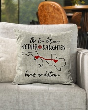 """FLORIDA TEXAS THE LOVE MOTHER AND DAUGHTER Indoor Pillow - 16"""" x 16"""" aos-decorative-pillow-lifestyle-front-04"""