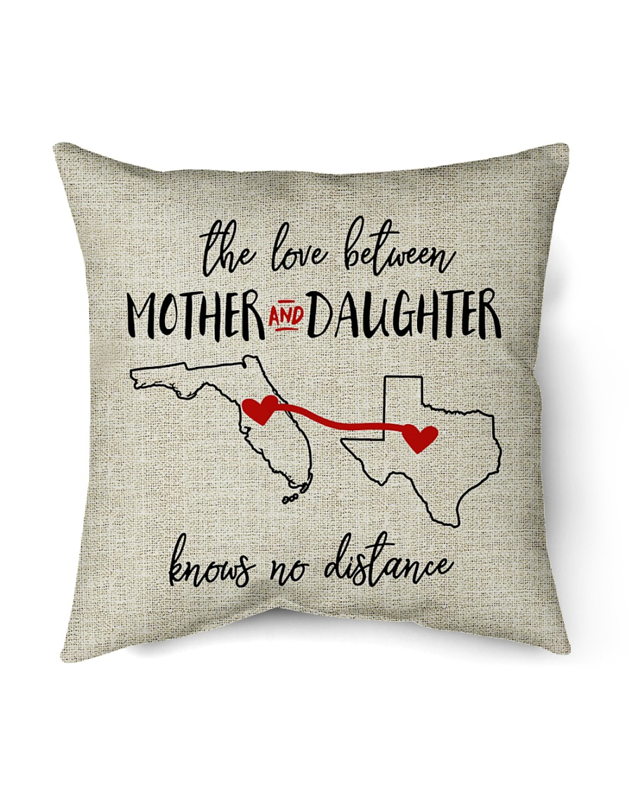 """FLORIDA TEXAS THE LOVE MOTHER AND DAUGHTER Indoor Pillow - 16"""" x 16"""""""