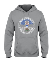 LIVING IN MINNESOTA WITH CALIFORNIA ROOTS Hooded Sweatshirt thumbnail