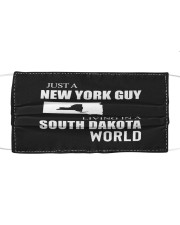 JUST A NEW YORK GUY IN A SOUTH DAKOTA WORLD Cloth face mask thumbnail