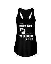 JUST AN OHIO GUY IN A WISCONSIN WORLD Ladies Flowy Tank thumbnail