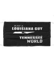 JUST A LOUISIANA GUY IN A TENNESSEE WORLD Cloth face mask thumbnail