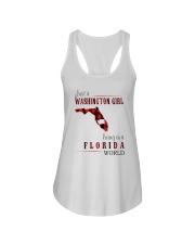 JUST A WASHINGTON GIRL IN A FLORIDA WORLD Ladies Flowy Tank thumbnail